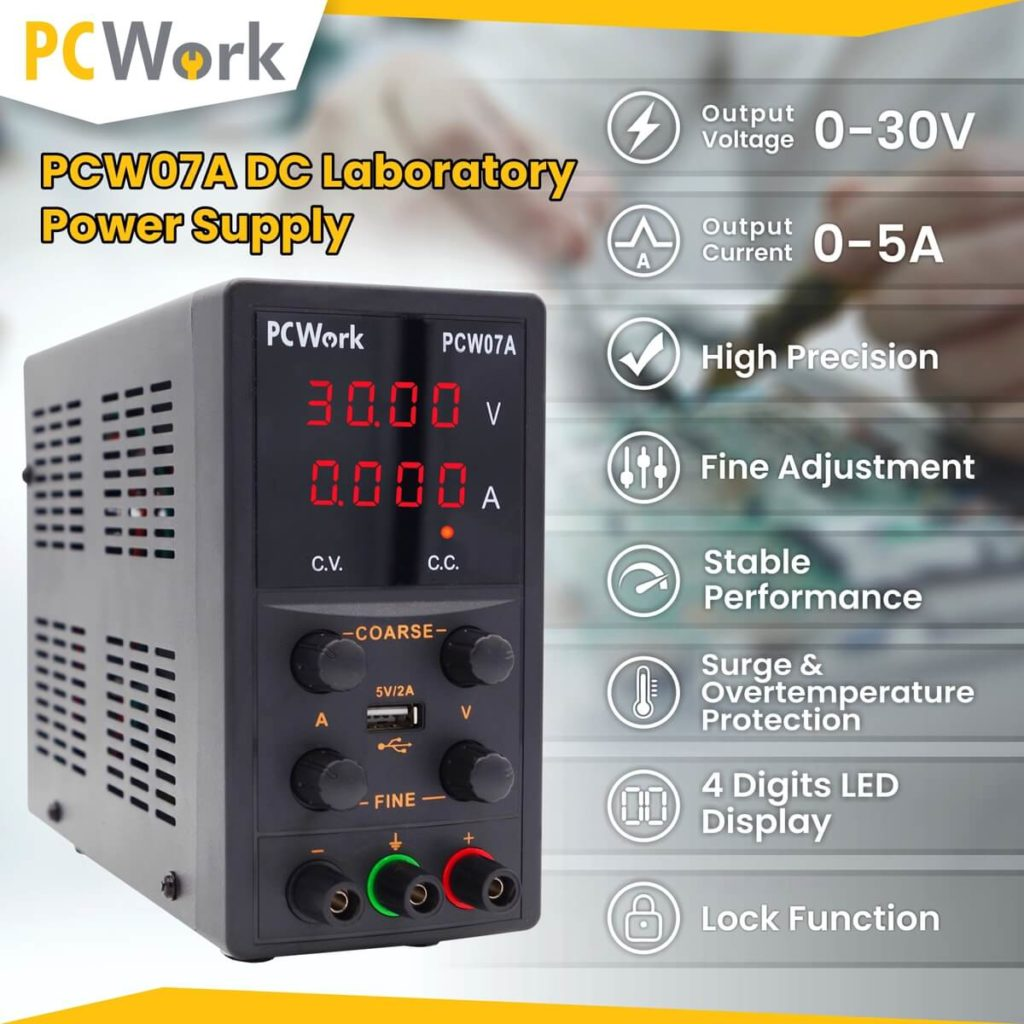 pcw07a laboratory power supply features