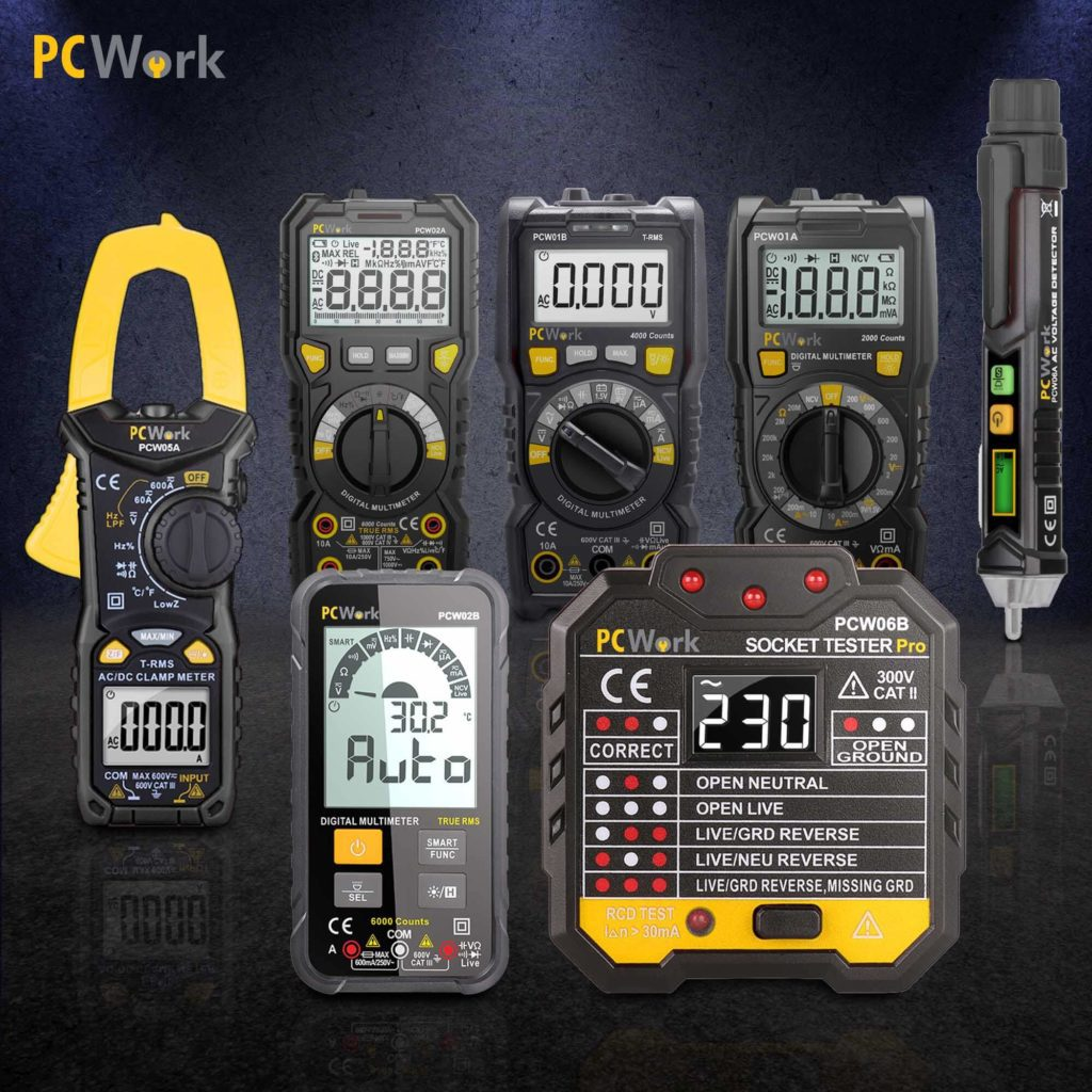product range pcwork testing instruments and multimeters