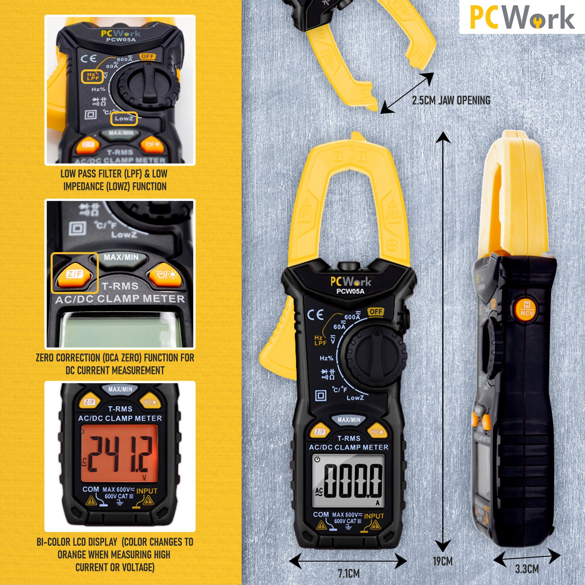 pcw05a digital clamp meter advanced features