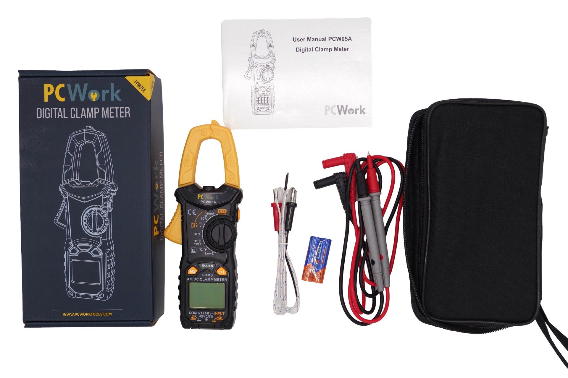 pcw05a digital clamp meter included items