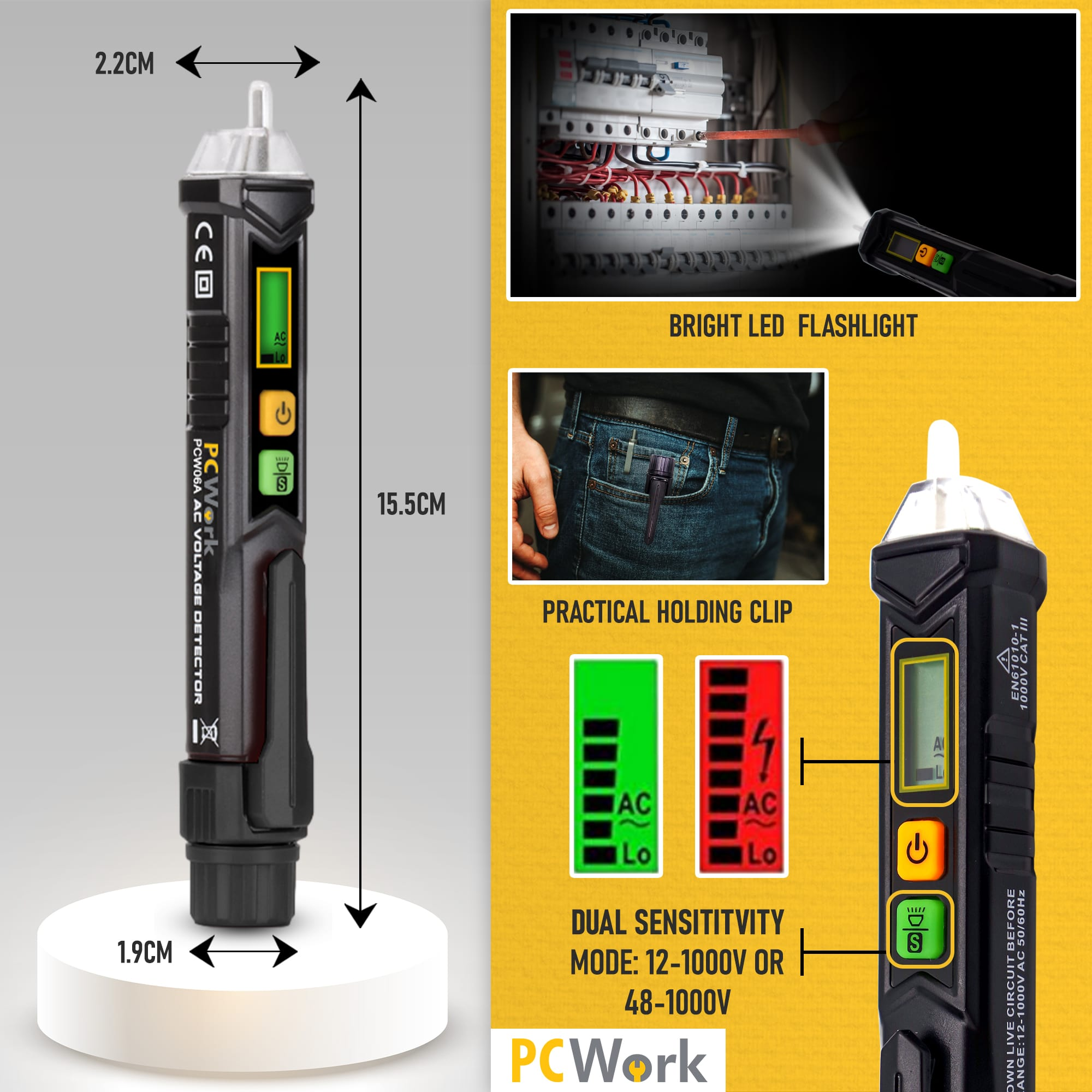 pcw06a ac voltage detector functions